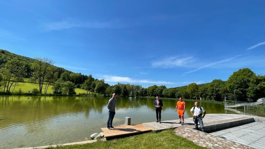 Das Naturbad in Altenveldorf öffnet am 3. Juni.