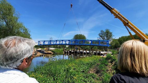 Neue Brücke bei Finstermühle eingehoben