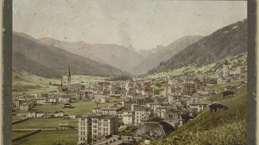 Blick auf Davos Platz, 1895/1900