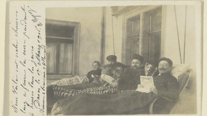 Patienten bei der Liegekur, 1906