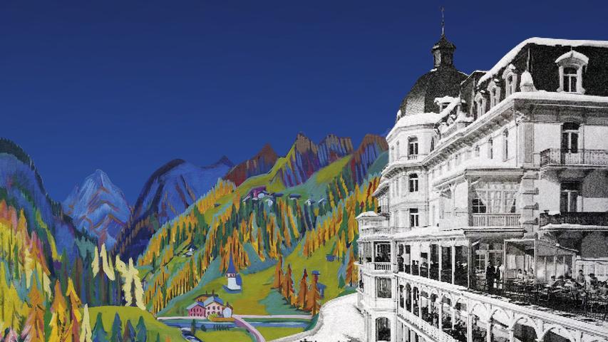 Montage aus dem Gemälde vonErnst Ludwig Kirchner