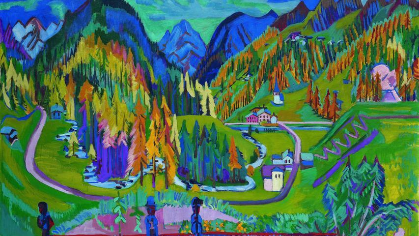 Gemälde, Ernst Ludwig Kirchner: Sertigtal im Herbst, Davos, 1925/26
