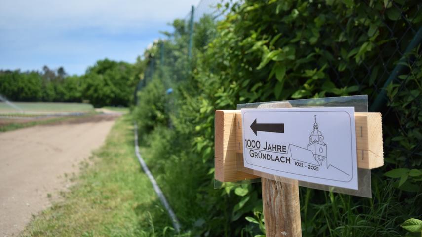 Der Streckenverlauf ist auf der Route mehrmals ausgeschildert.