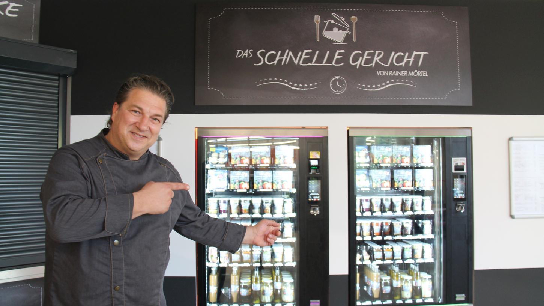 Hochwertiges Essen aus dem Automaten: Das ist Rainer Mörtels Leidenschaft.