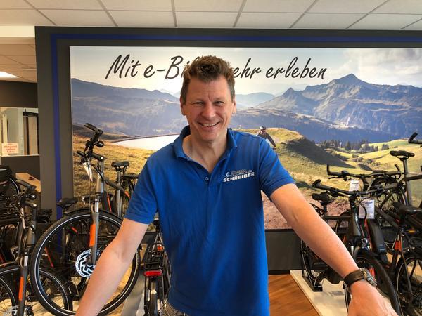 Jürgen Schreiber wurde in das Thema Rad bereits hineingeboren und setzt auf das Thema E-Bikes.