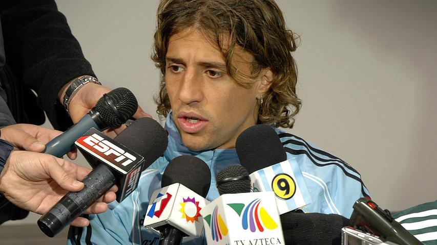 Der Argentinier Hernan Crespo bei einer Pressekonferenz bei der WM 2006