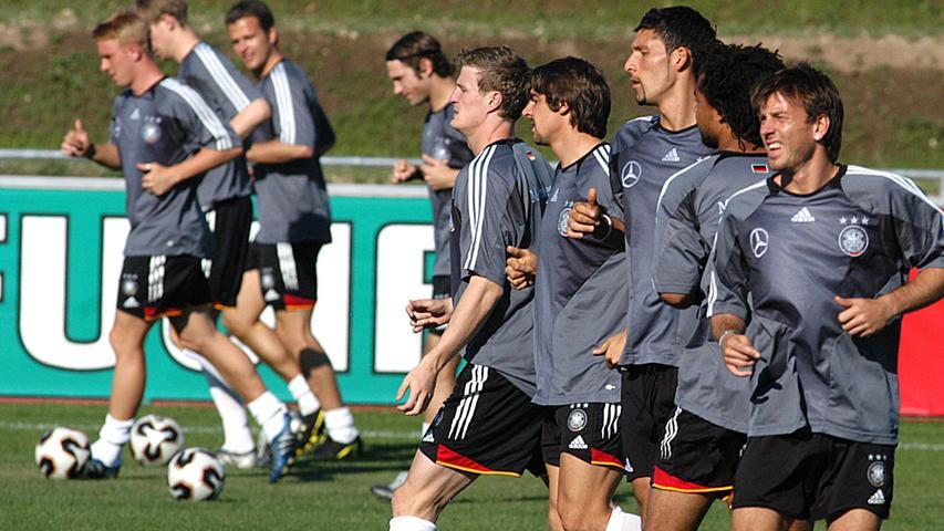 Juni 2005: Öffentliches Training der Nationalmannschaft während des Confederations Cups.