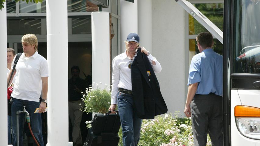 2005: Oliver Kahn und Timo Hildebrand im Hotel Herzogs Park.