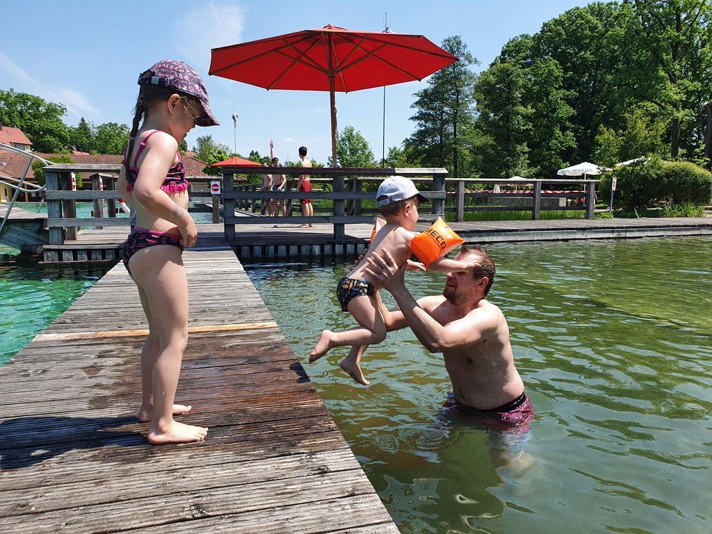 Eröffnung des Naturbads in Großhabersdorf nach Corona-Pause