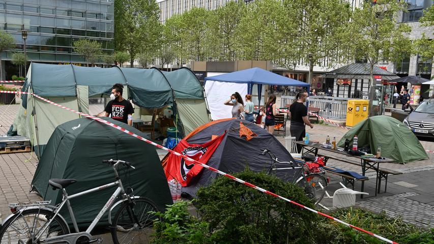 So sieht das Klimacamp in Erlangen aus