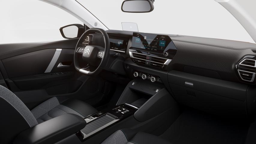 Klare Sache: C4-Instrumentenbord mit großem 10-Zoll-Touchscreen und Plexiglas-Head-up-Display.