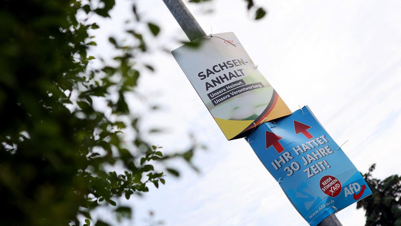 Am Ende reichte es doch für die CDU: Die Union liegt in Sachsen-Anhalt deutlich vor der AfD auf Platz eins.