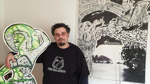 Der Zeichner Ramon Serrano alias STORMEZ liebt Schwarz-weiß-Kontraste