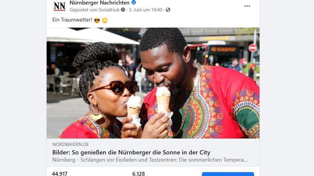 Dieses Foto löste bundesweit einen Shitstorm aus: Auf Facebook ließen viele Userinnen und User ihrem Rassismus freien Lauf.