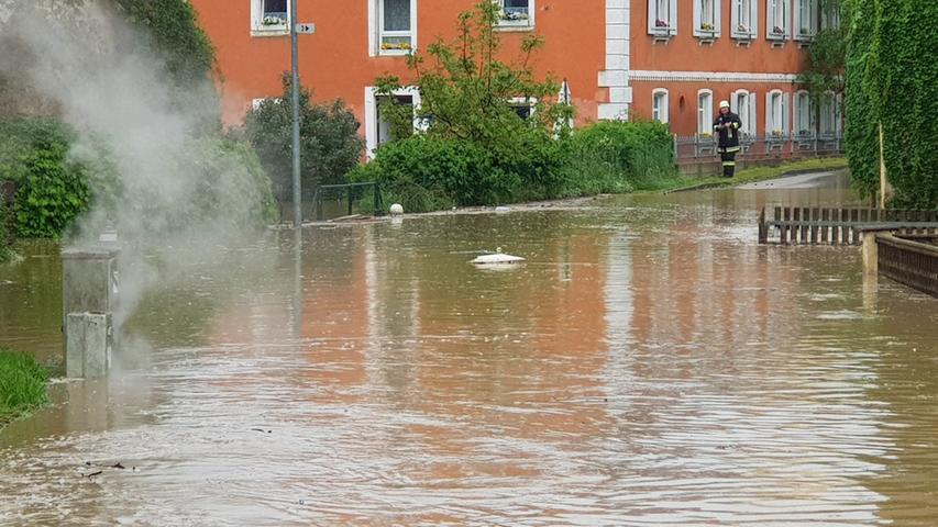 Wassermassen fluteten Ostheim