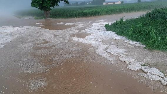 Braunes Schlammwasser durchflutete Hörlbach