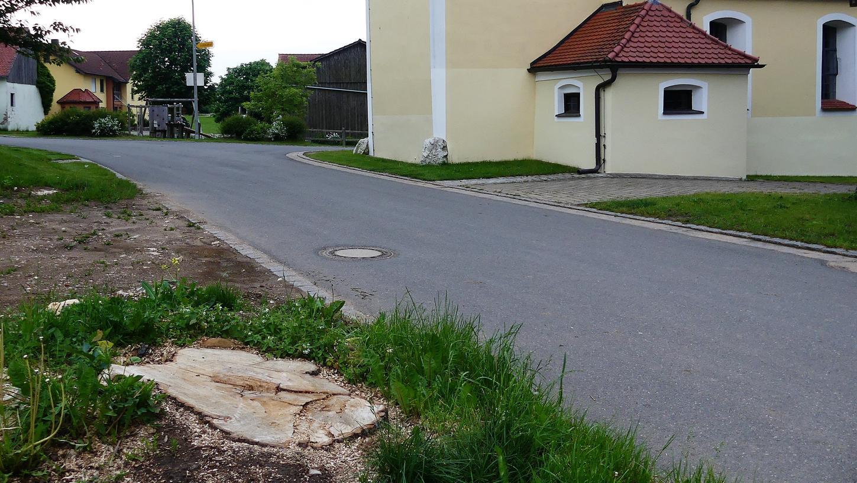 Von der markanten Linde im Dorfzentrum von Premerzhofen ist nicht viel übrig geblieben. Vor nicht allzu langer Zeit prägte der schräg gegenüber der Kirche stehende Baum noch das Dorfbild.