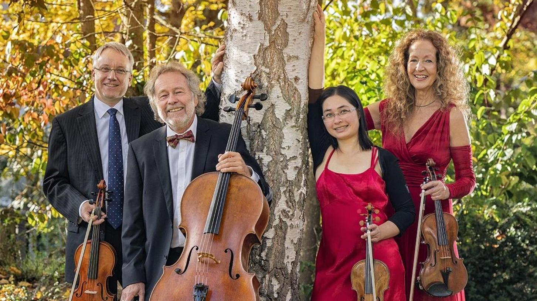 Das Esterhazy-Quartett wird am Samstag im Heinrich-Kirchner-Skultpurengarten am Burgberg vom Klarinettisten Lucas Linner unterstützt.