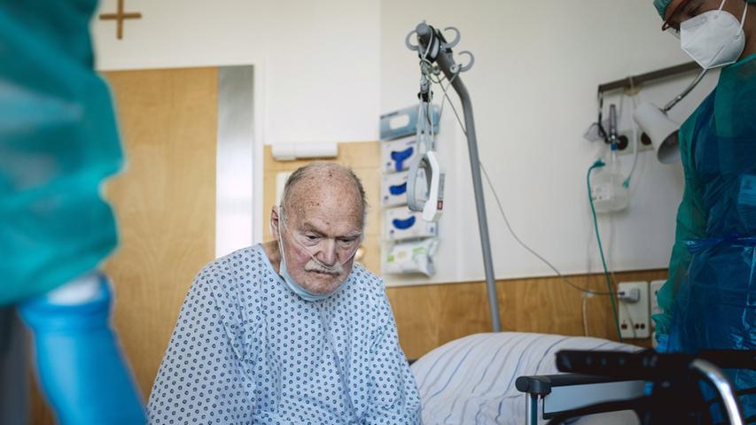 Für seine Aufnahme eines 90-järigen Covic-19-Patienten gewann Florian Bachmeier den Titel