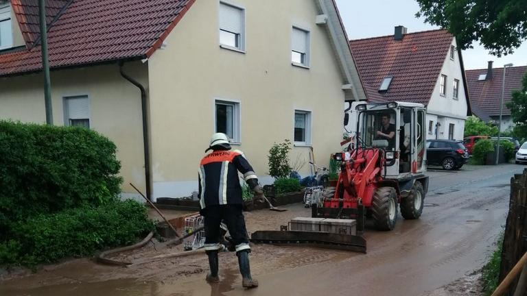Die Gemeinde Wachenroth traf der Starkregen besondersheftig.