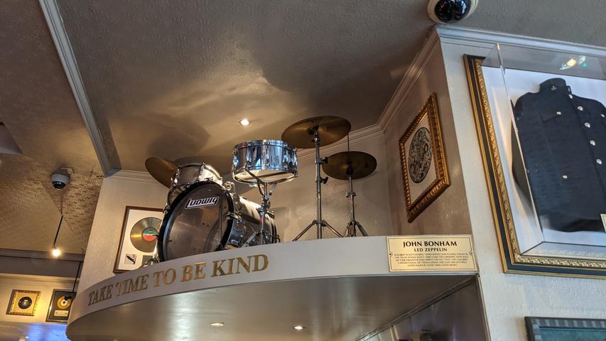 Das Schlagzeug von Led-Zeppelin-Drummer John Bonham