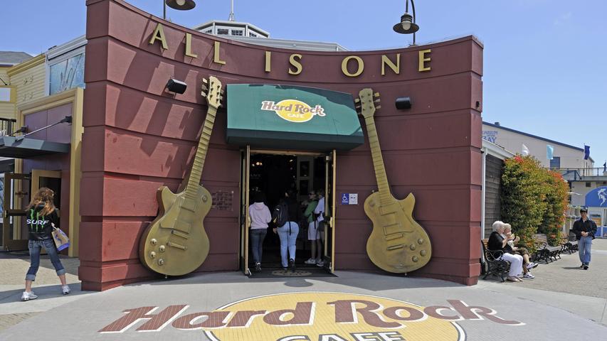 Das Hard Rock Cafe am Pier 39, Fisherman's Wharf in San Francisco.