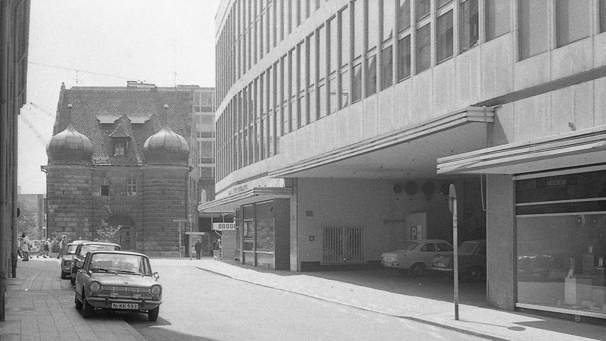 Die Fußgängerstraße An der Mauthalle in Nürnberg war am Samstagmittag Schauplatz des größten Gelddiebstahls in der Nürnberger Nachkriegsgeschichte. Hier geht es zum Kalenderblatt vom14. Juni 1971: Größter Geldraub nach dem Krieg