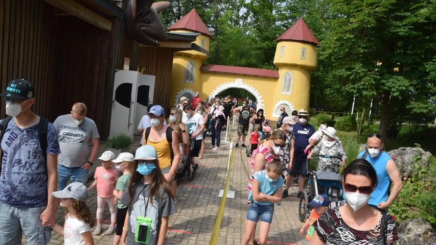 Saisoneröffnung Erlebnispark Schloss Thurn Heroldsbach am 12.06.21 Foto: Alexander Hitschfel