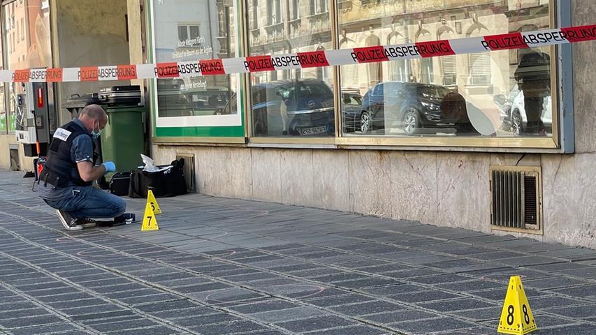 Versuchte Tötung in der Fürther Südstadt: Polizei mit Hubschrauber im Einsatz