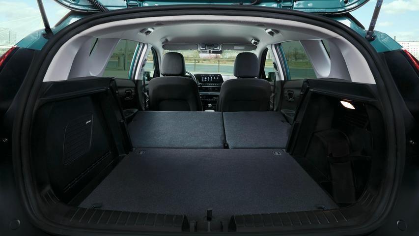 Das Kofferraumvolumen beträgt 411 bis 1205 Liter.
