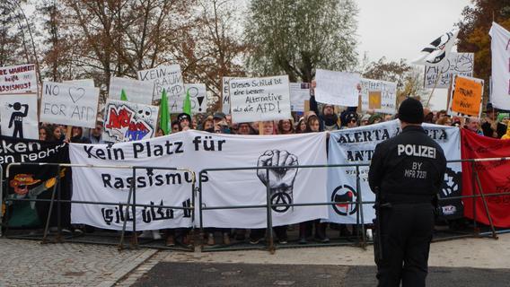 Protest gegen AfD-Veranstaltung in Gunzenhausen