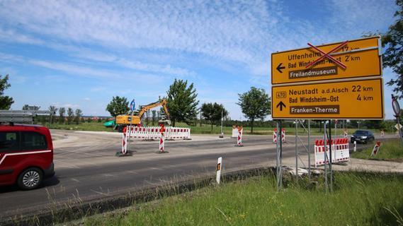Baustelle auf der B470 noch bis Freitagnachmittag