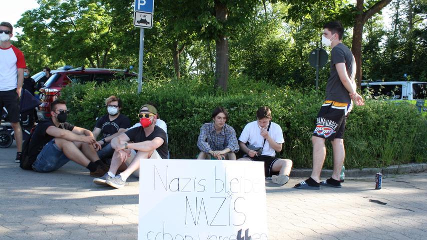 Kundgebung gegen AfD-Veranstaltung in Gunzenhausen