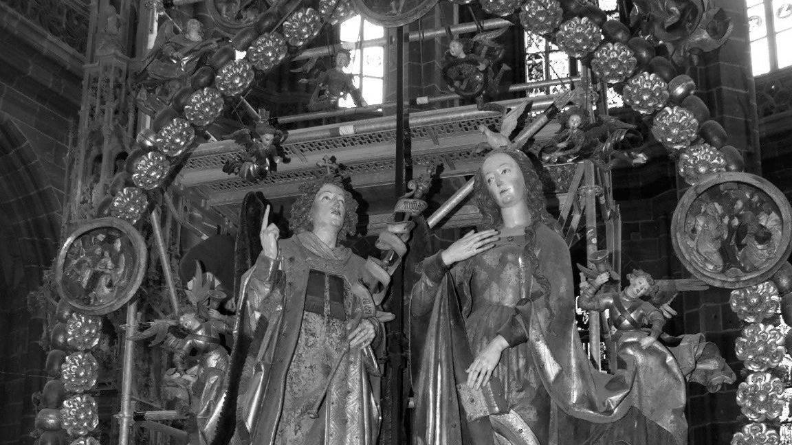 Bekanntestes Meisterwerk von Veit Stoß: Der Englische Gruß, im Volksmund Engelsgruß