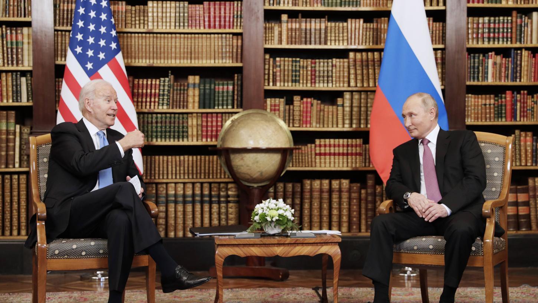 Treffen in Genf: Wladimir Putin und Joe Biden.