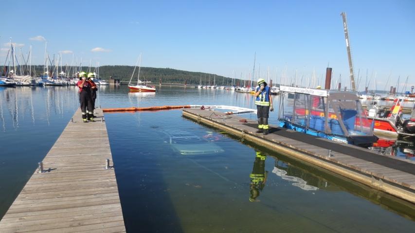 Die Slipramp am Ramsberger Segelhafen wird normalerweise dazu genutzt, Segelboote in den See zu lassen.