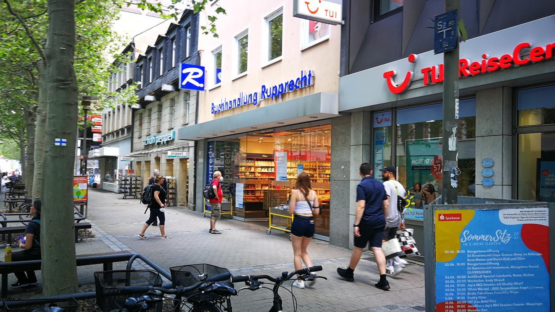 Die Filiale der Buchhandlung Rupprecht in Erlangen.