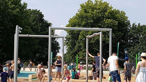 Wasserspielplatz an Nürnberger Norikusbucht bleibt vorerst trocken