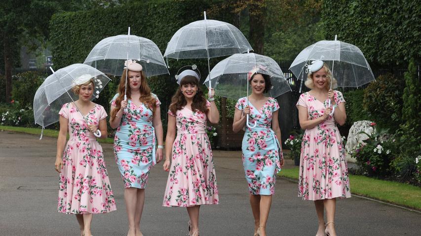 Elegant ging es beim Ladies Day beim Pferderennen im britischenAscot zu.