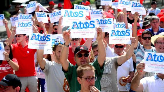 Atos in Fürth: Mitarbeiter protestieren gegen Stellenabbau