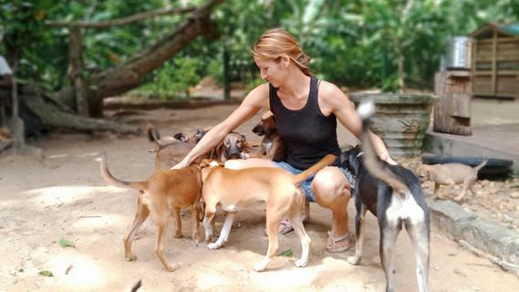 Herzogenauracherin hilft Vierbeinern in Sri Lanka