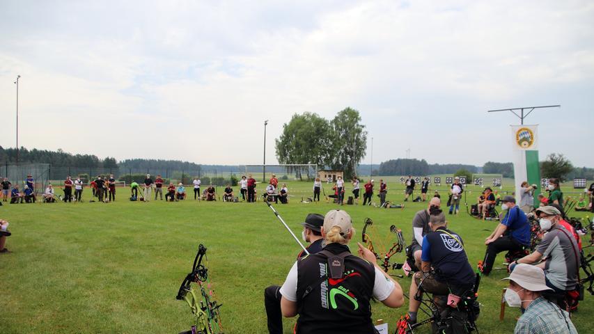 Bayerische Meisterschaft der Feldbogenschützen in Bronn  Foto: Jürgen Masching