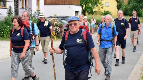 Pilgergruppe in Forchheim: Mit Gebet und Gesang unterwegs