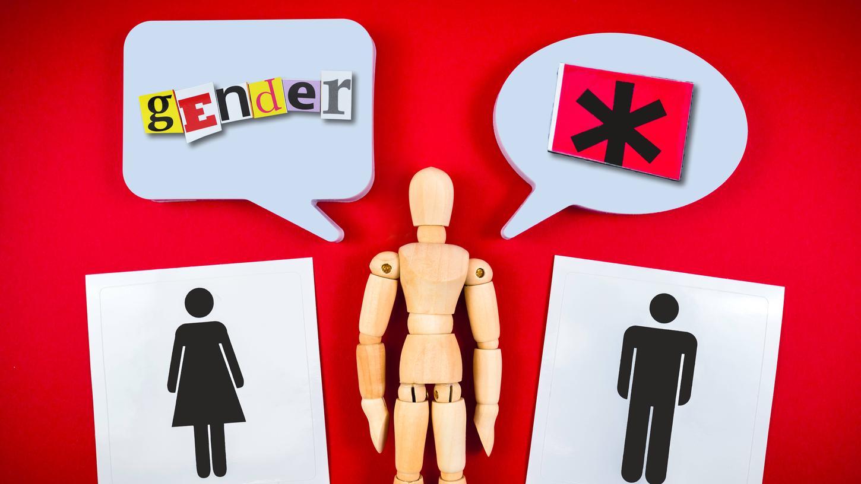 Word männlich weiblich zeichen Sonderzeichen für