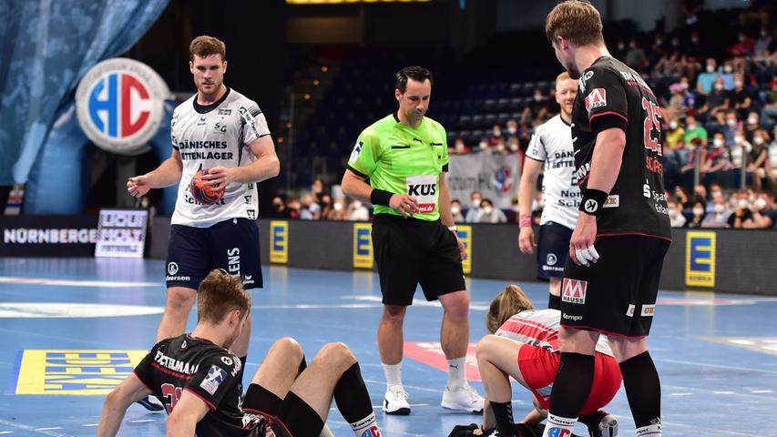23.06.2021 --- Handball --- 1. Bundesliga LIQUI MOLY HBL --- Saison 2020 2021 --- 37. Spieltag: HC Erlangen Metropolregion Nürnberg HCE - SG Flensburg-Handewitt --- Foto: Sport-/Pressefoto Wolfgang Zink / OGo --- ..Christopher Bissel (21, HC Erlangen HCE )