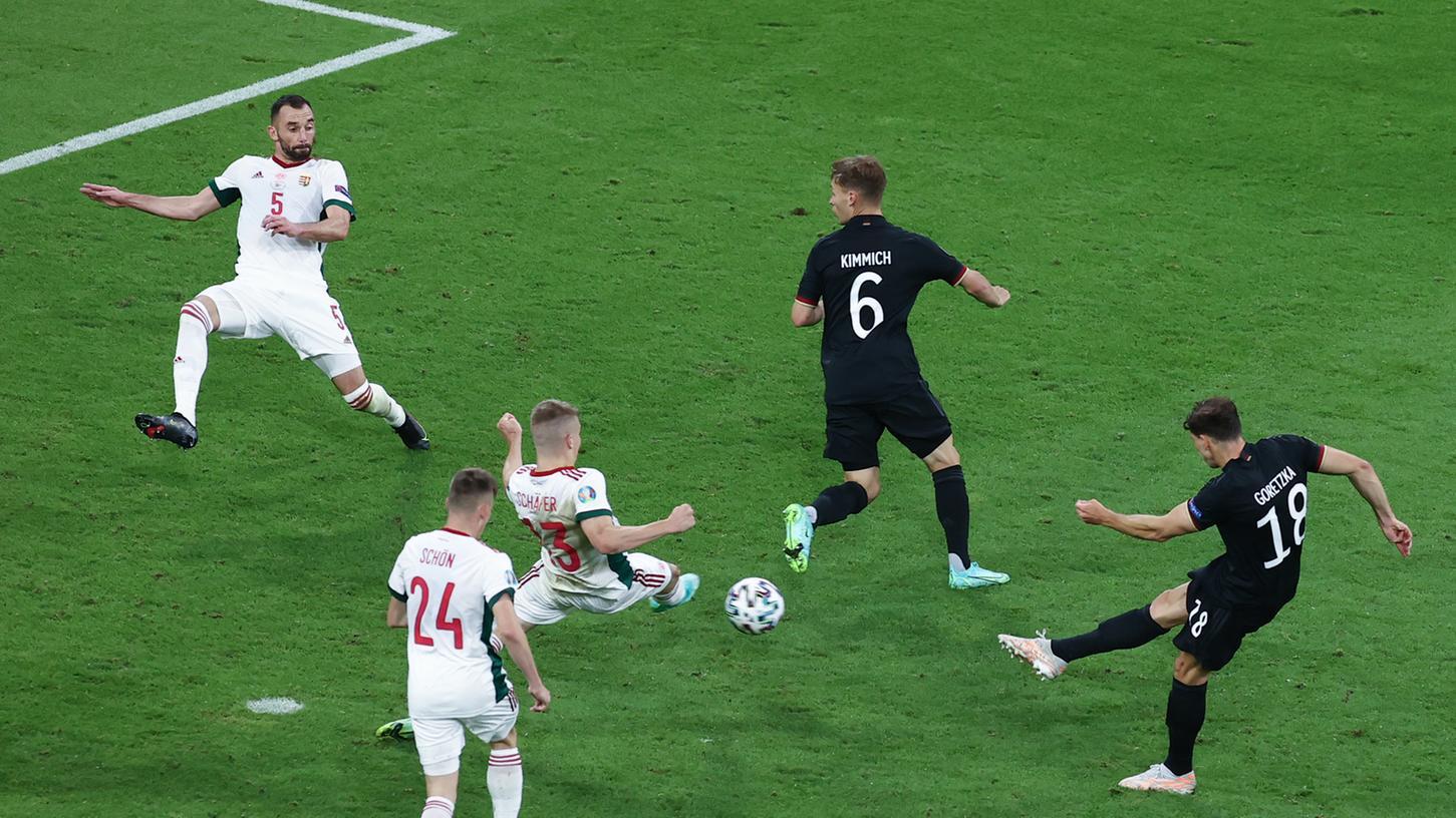Immerhin! Leon Goretzka sicherte Deutschland gegen Ungarn ein Remis - und so das Weiterkommen.