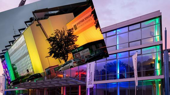 Von Nürnberg über Fürth nach Berlin: So bunt leuchteten die Stadien