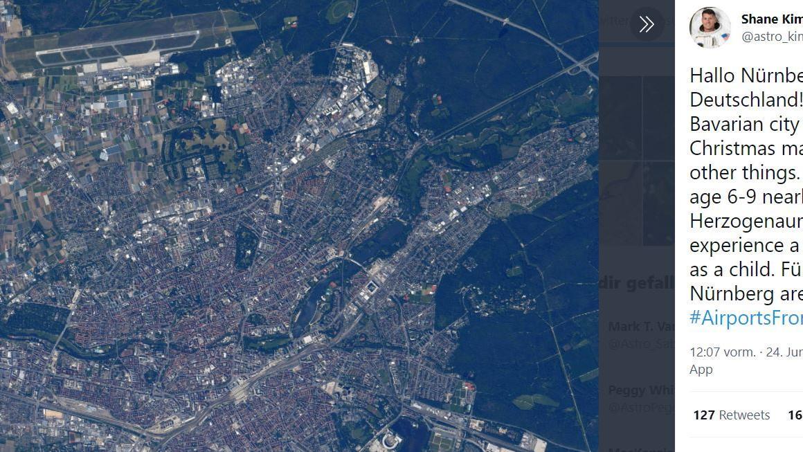 Nasa-Astronaut grüßt Nürnberg von der ISS - das ist der Grund