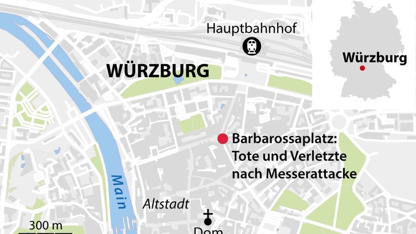 Der Tatort in Würzburg.
