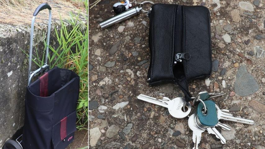 Diese persönlichen Gegenstände wurden am Ufer gefunden.